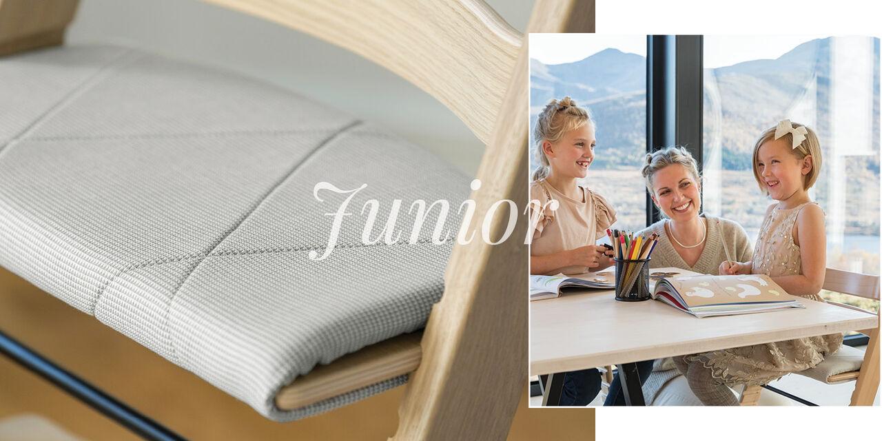 Tripp Trapp® Cojín Junior Nordic Grey, Nordic Grey, emotional1 view 1