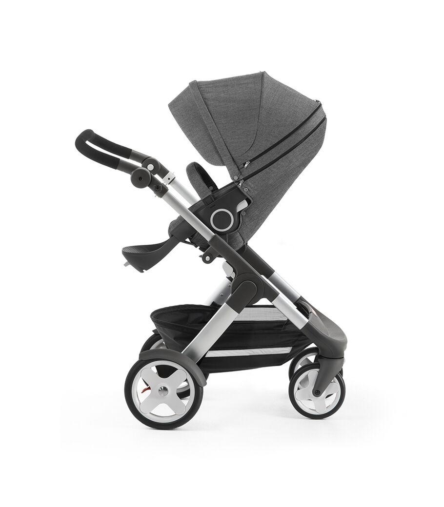 Stokke® Trailz™ with Stokke® Stroller Seat, Black Melange. Classic Wheels. view 13