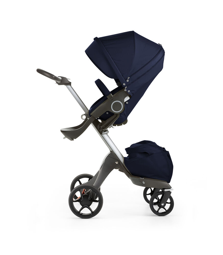 Stokke® Xplory® with Stokke® Stroller Seat, Deep Blue. New wheels 2016.