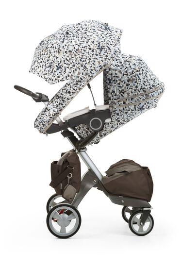Stokke® Xplory® with Stokke® Stroller Summer Kit Blue Pixel.