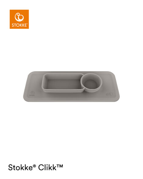 ezpz™ by Stokke™ placemat for Clikk™ Tray Green, Soft Grey, mainview view 7