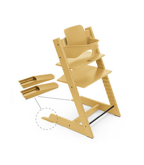 Tripp Trapp® Chair Sunflower Yellow, Beech, with Baby Set. view 3
