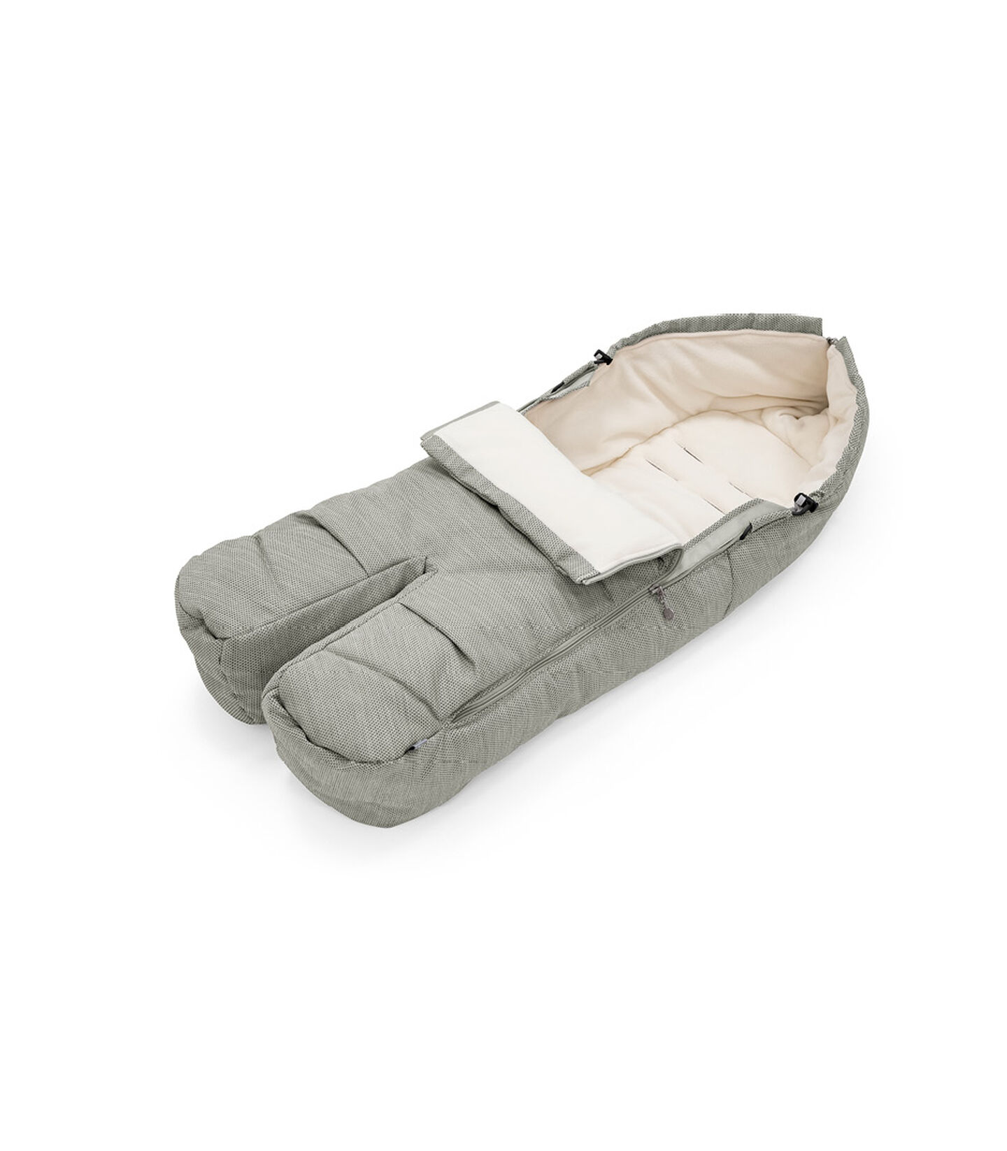 Stokke® Foot Muff Brushed Grey, Gris, mainview view 2