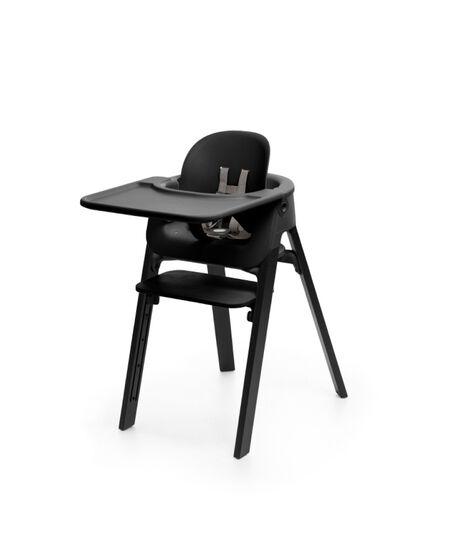 Stokke® Steps™ Oak Black with Baby Set Tray, Black. Accessories.