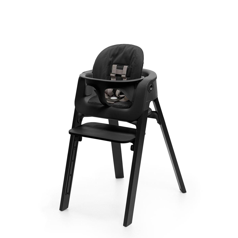 Stokke® Steps™ Baby Set Cushion Black, Black, mainview view 1
