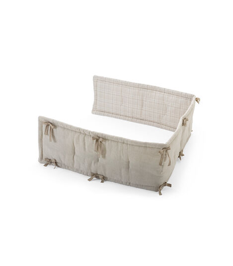 Stokke® Half Bumper, Linen Natural/Beige Checks.