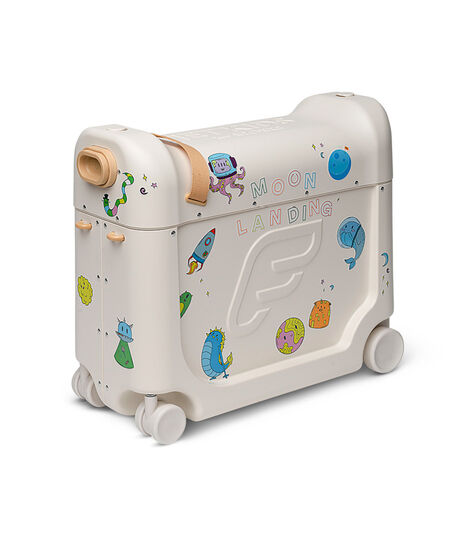 JetKids™ by Stokke® BedBox V3 in Full Moon White Decorated with Stickers. view 7