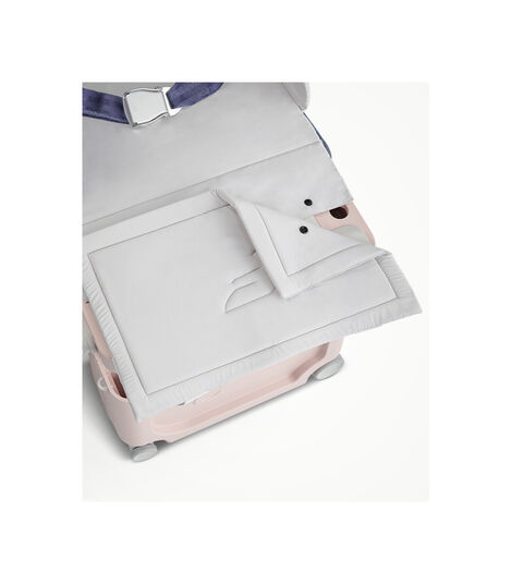 JetKids™ by Stokke® BedBox V3 in Pink Lemonade. Detachable Mattress. view 8