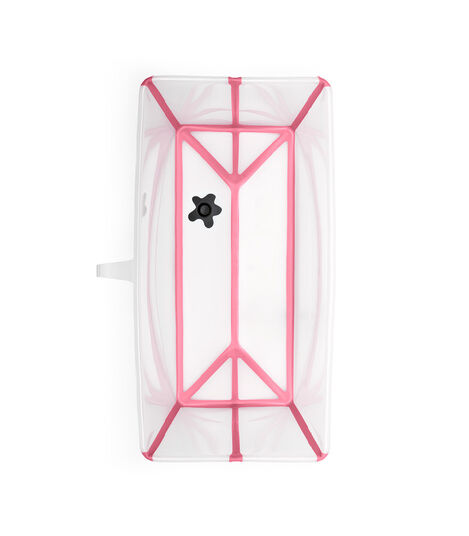Stokke® Flexi Bath® bath tub, Transparent Pink. Open.