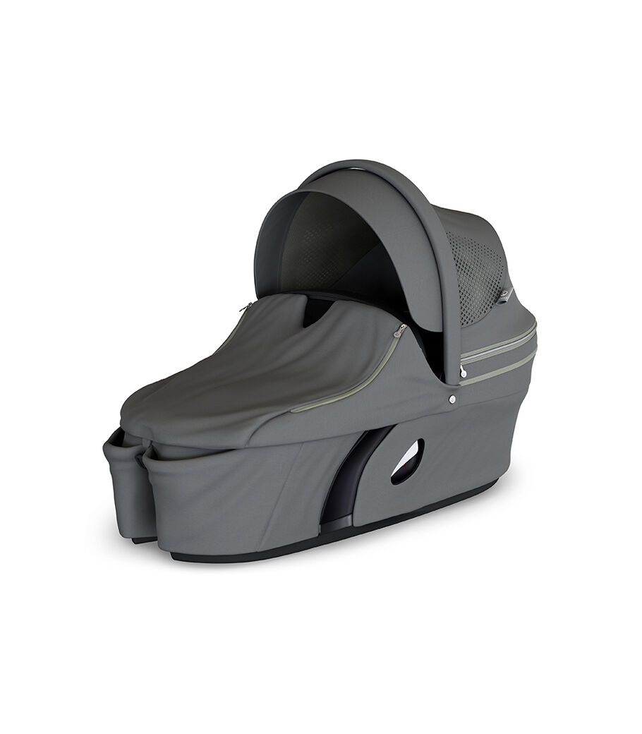 Stokke® Xplory® Carry Cot Athleisure Green. With Storm Cover.
