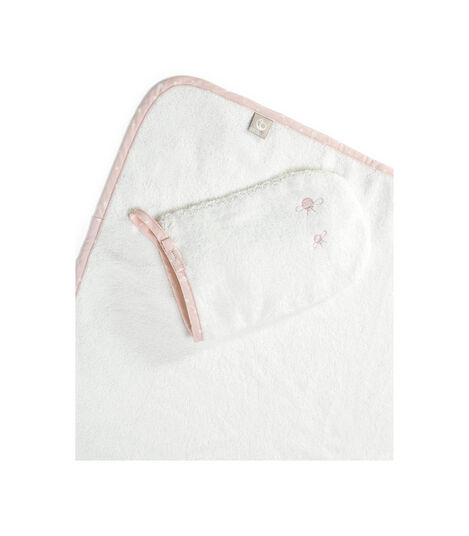 Stokke® Hooded Towel Pink Bee, Rose abeille, mainview view 3