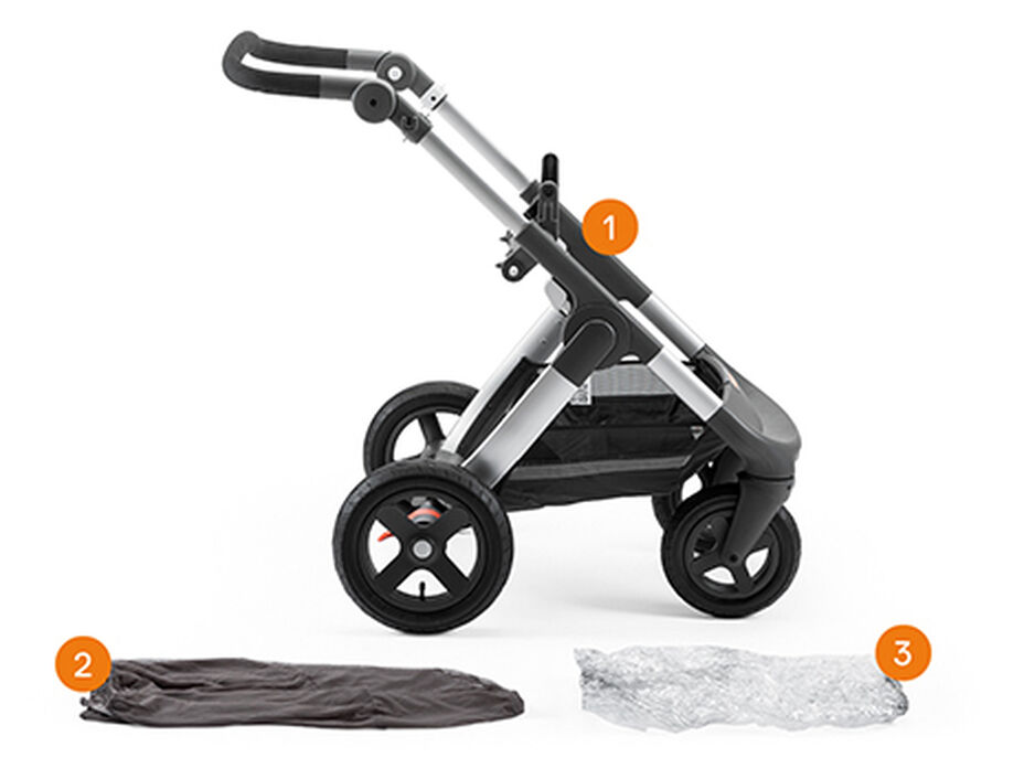 Stokke® Trailz™ Chassis. Items included.