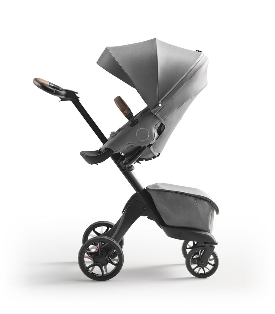 Stokke® Xplory® X Modern Grey Stroller with Seat Parent Facing view 3