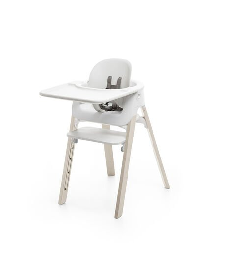 Stokke® Steps™ Baby Set con vassoio Bianco, Bianco, mainview view 3