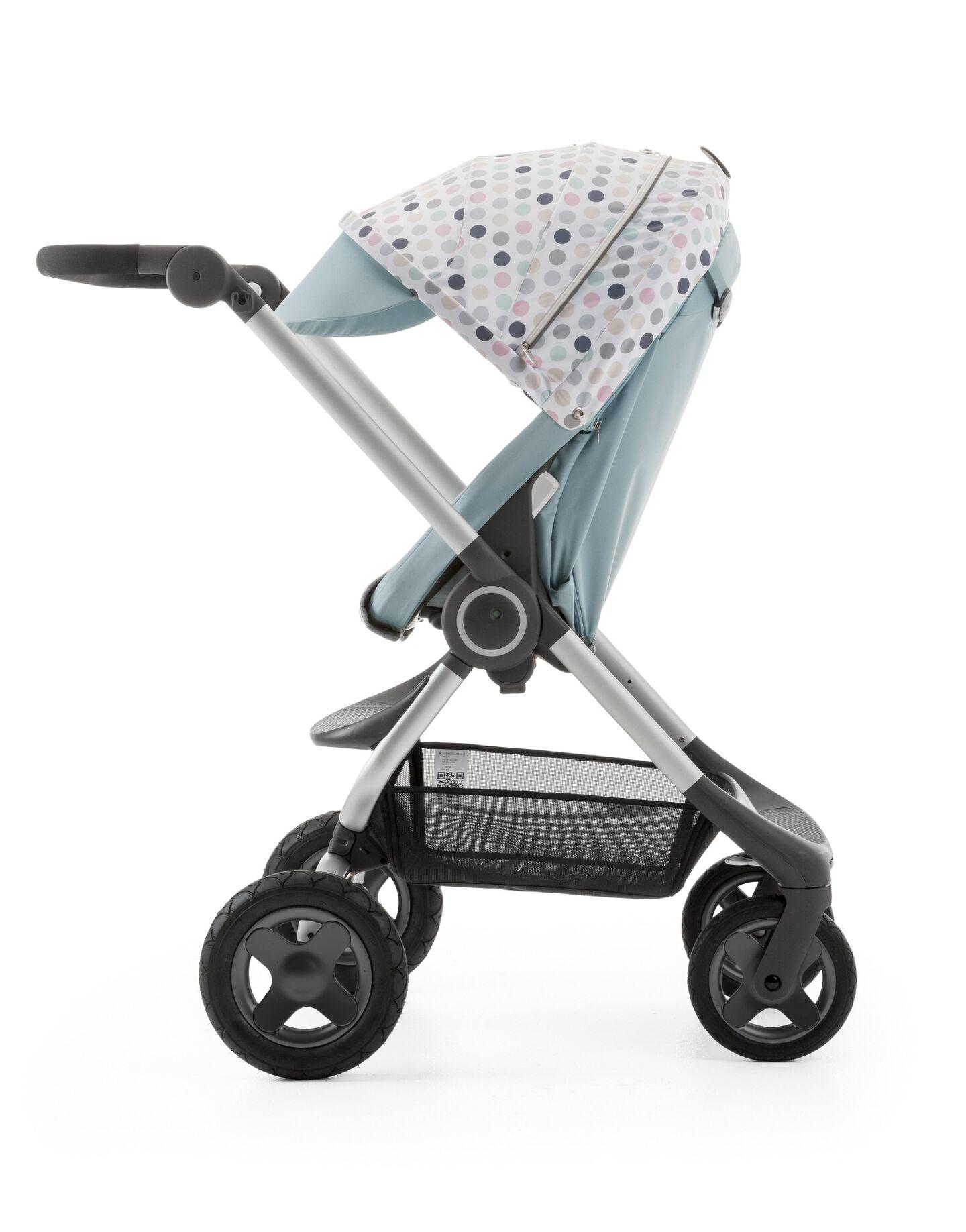 Stokke® Scoot™ Aqua Blue with Style Kit Soft Dots.
