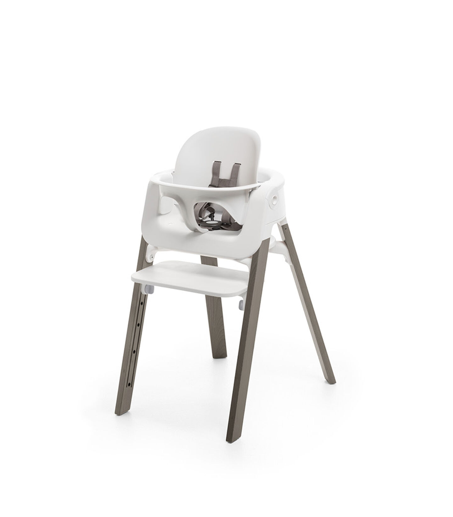 Stokke® Steps™ High Chair Hazy Grey Legs with White, Hazy Grey, mainview view 2