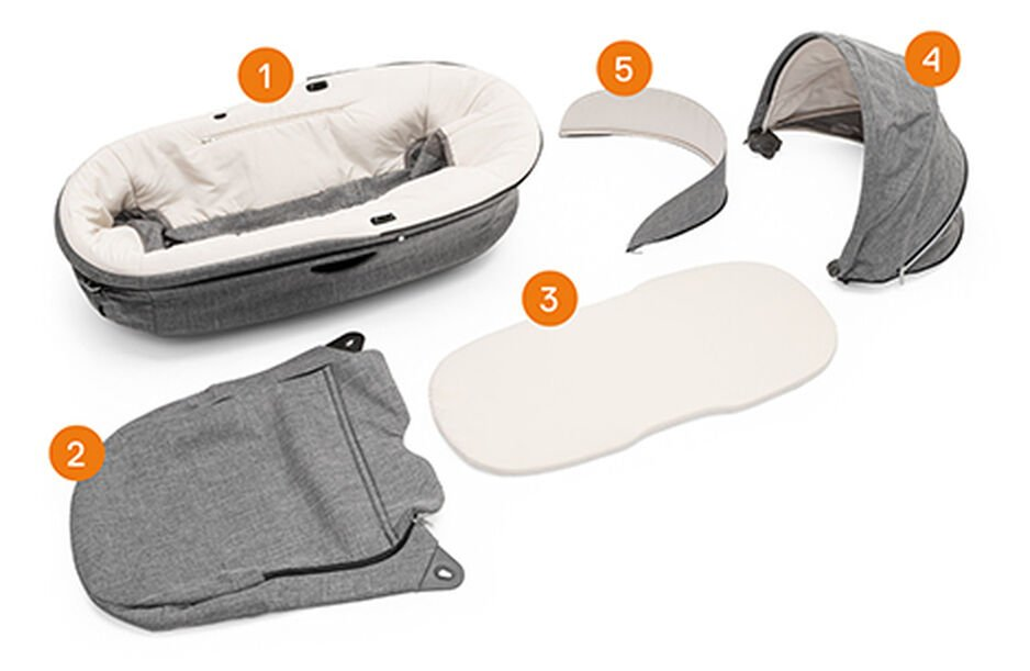 Stokke® Stroller Carry Cot. Items included.