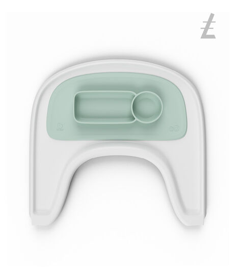 ezpz™ by Stokke®, Soft Mint. Stokke® Tray White for Tripp Trapp®. view 4