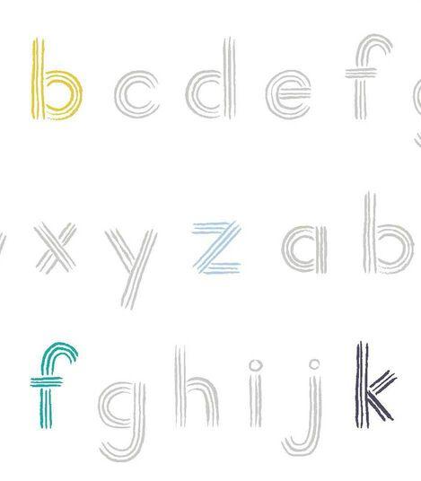 Petit-Pehr Alphabet print for Stokke. Pattern detail.
