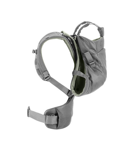 Stokke® MyCarrier™ Back Carrier Green Mesh. Profile. view 4