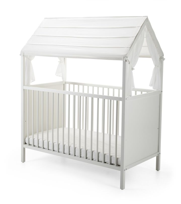 Stokke® Home™ Bed, White. Roof textile, White.