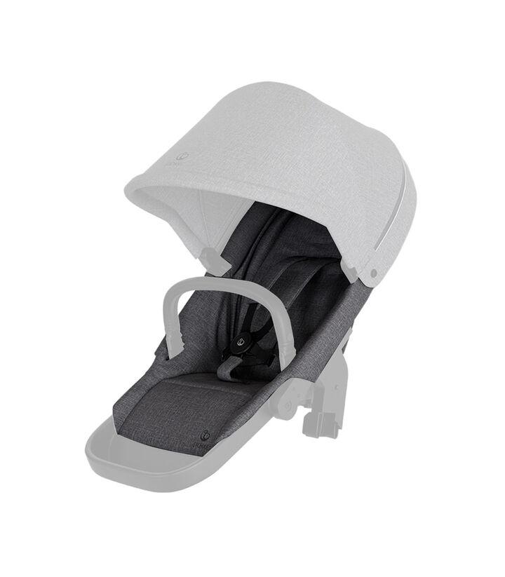 Stokke® Beat seat textile BlackMel wo Can Harness Shpg Baske, Black Melange, mainview