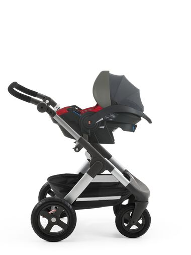 Stokke® iZi Go™ X1, Red and Stokke® Trailz™ chassis.