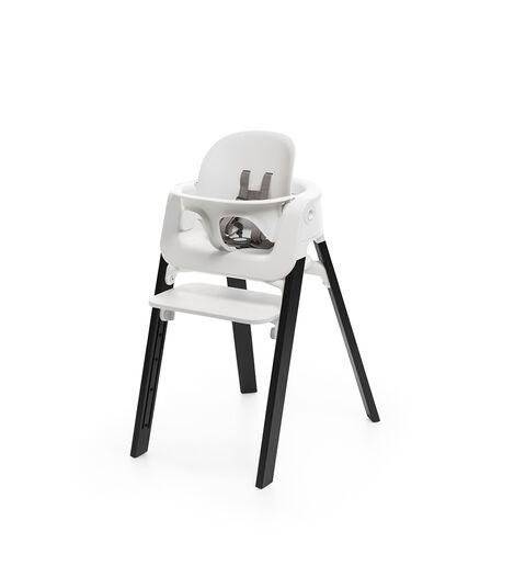 Stokke® Steps™ Chair White Seat Oak Black Legs, Oak Black, mainview view 4