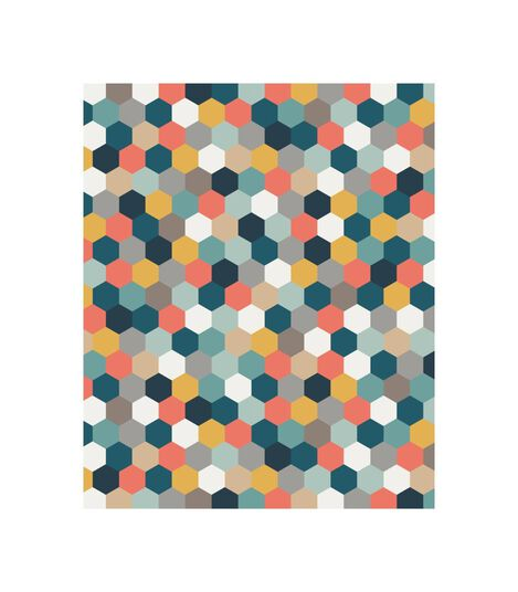 Tripp Trapp® Classic Cushion Honeycomb Happy OCS, Kleurig honingraatmotief, mainview