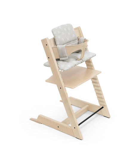 Tripp Trapp® High Chair Natural with Baby Set and Classic Cushion Stars Silver. view 8