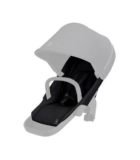 Stokke® Beat seat textile BlackMel wo Can Harness Shpg Baske, Nero Melange, mainview view 2