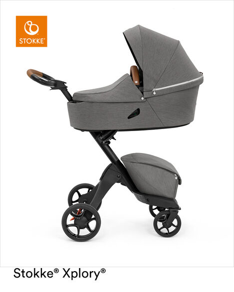 Stokke® Xplory® X Carry Cot Modern Grey, Modern Grey, mainview view 12