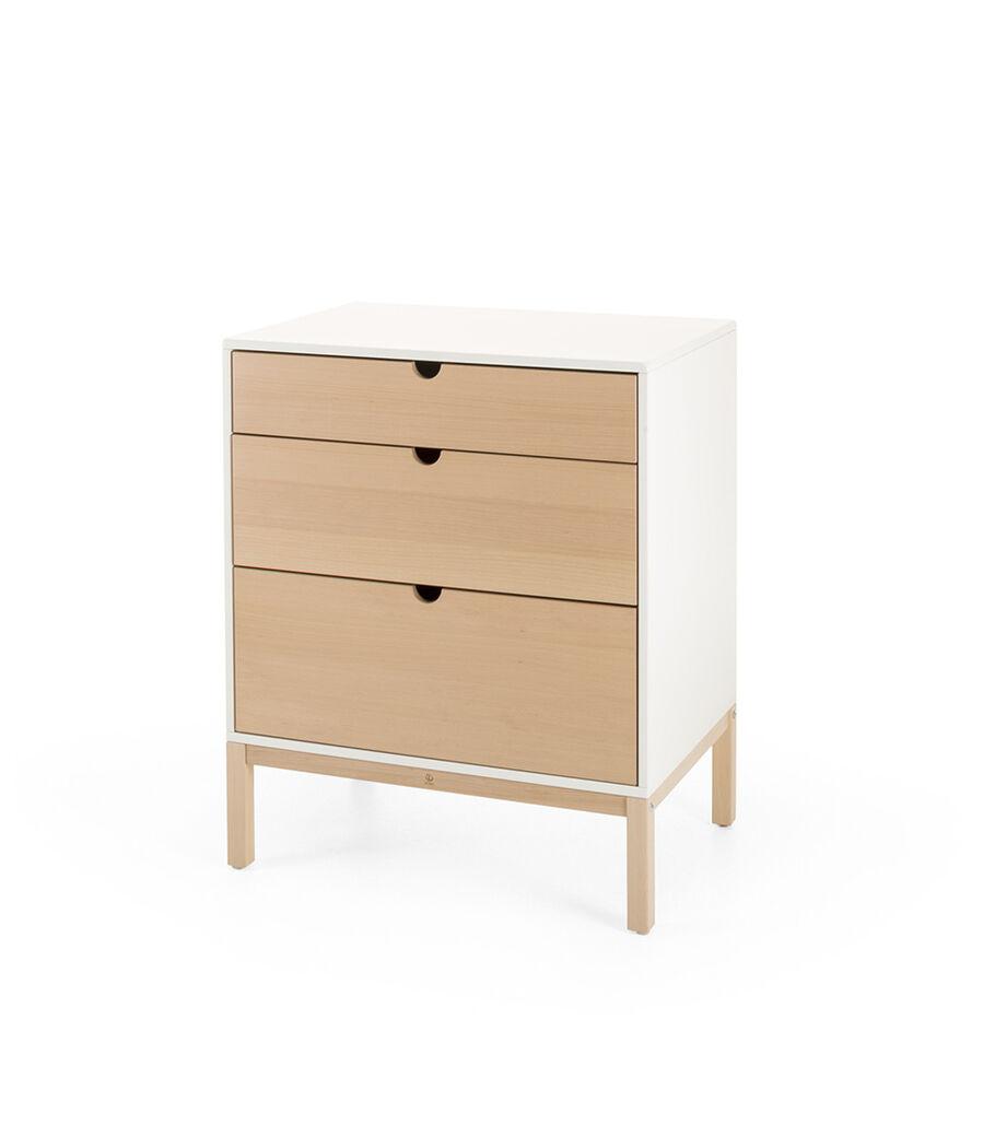 Stokke® Home™ Dresser, White wiht Natural drawers.