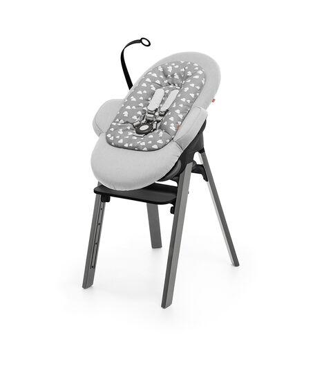 Stokke® Steps™ Chair Black Seat Storm Grey Legs (stokke.com), Storm Grey, mainview view 3