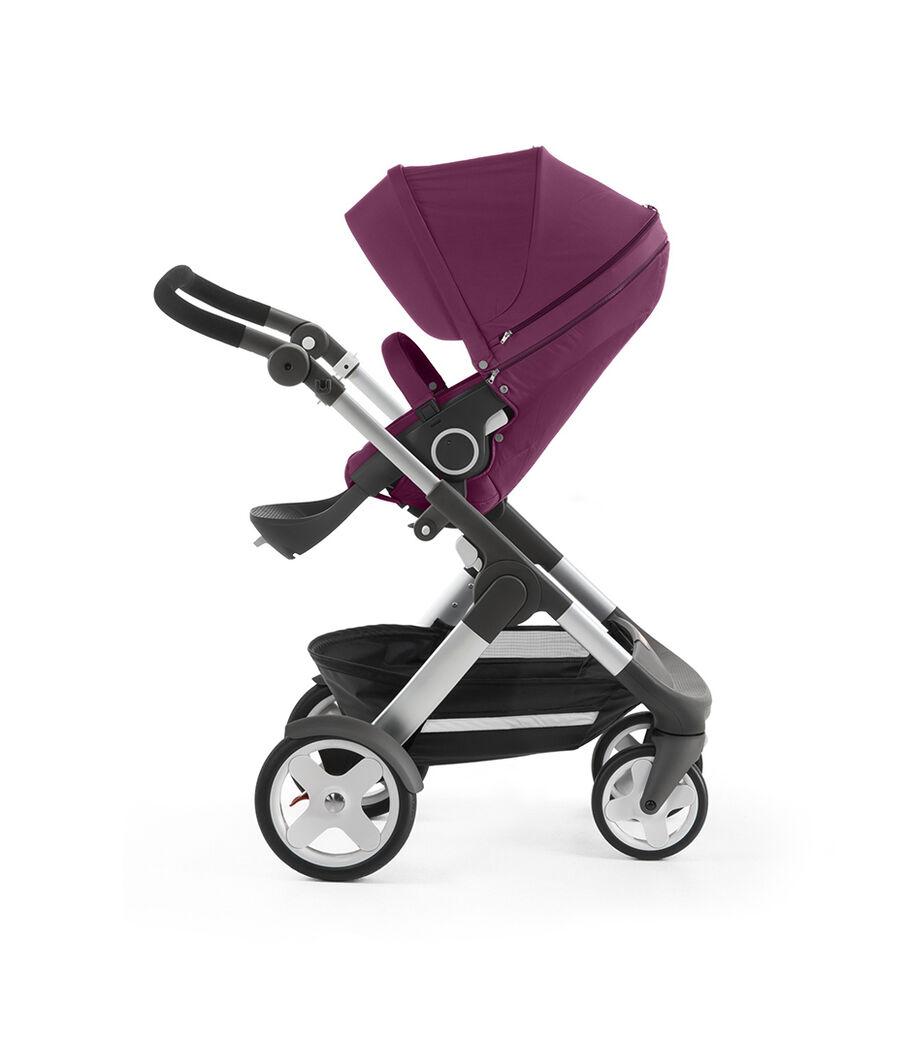 Stokke® Trailz™ with Stokke® Stroller Seat, Purple. Classic Wheels.