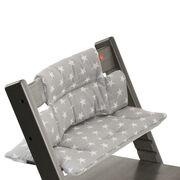 Tripp Trapp® Hazy Grey with Grey Star cushion. Detail.