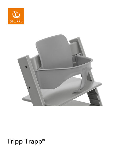 Tripp Trapp® Chair Storm Grey with Baby Set. Close-up. view 5