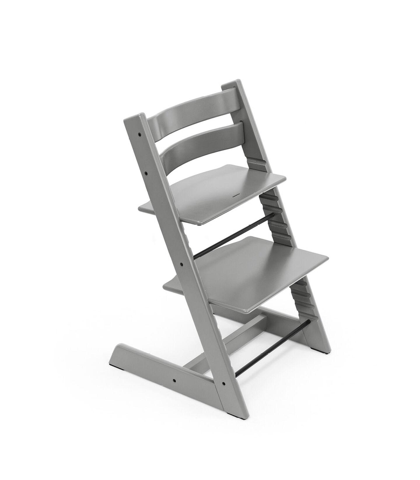 Tripp Trapp® chair Storm Grey, Beech Wood. view 2