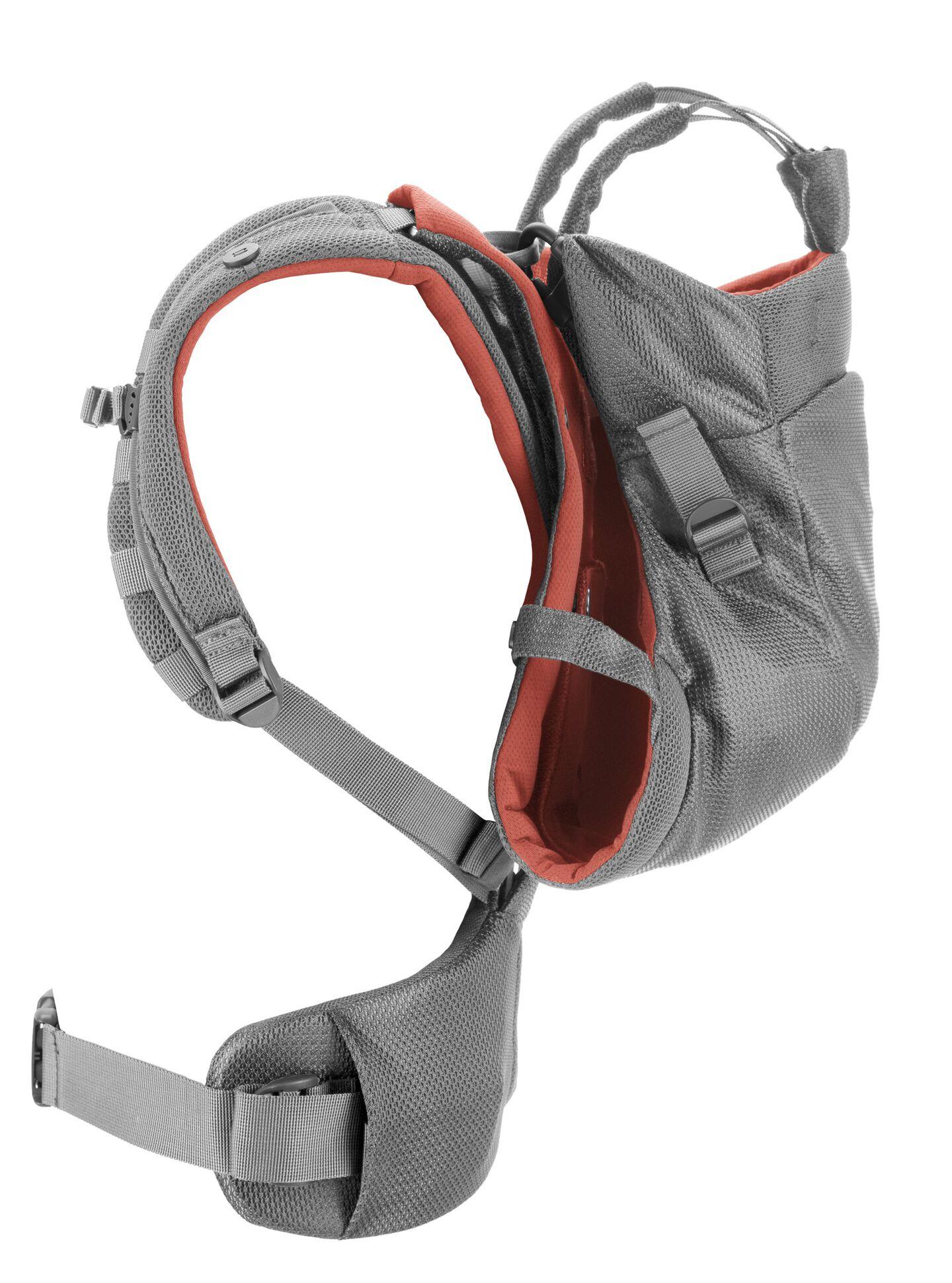 Stokke® MyCarrier™ Back Carrier Coral Mesh. Profile.