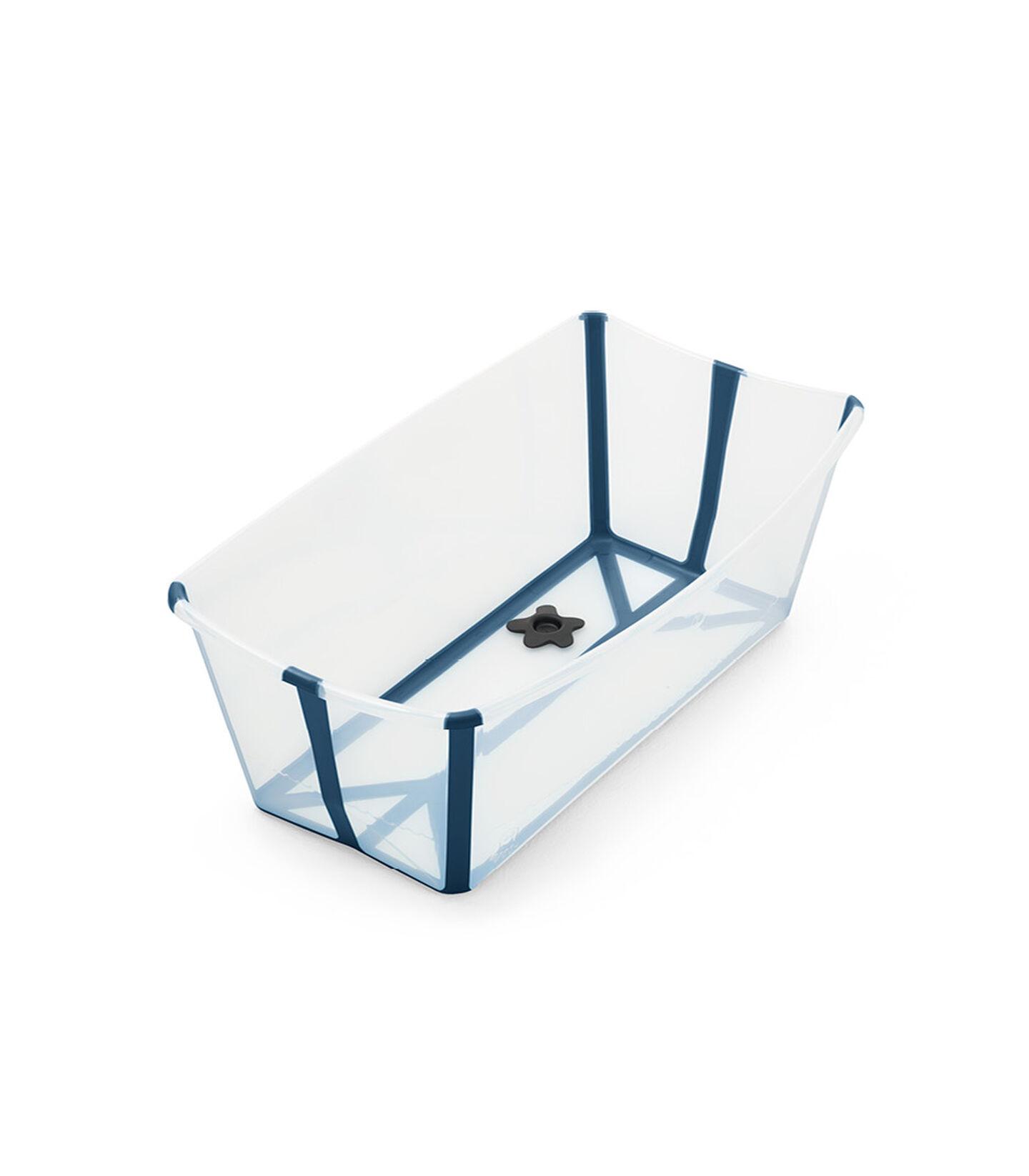 Stokke® Flexi Bath® bath tub, Transparent Blue. Open. view 2