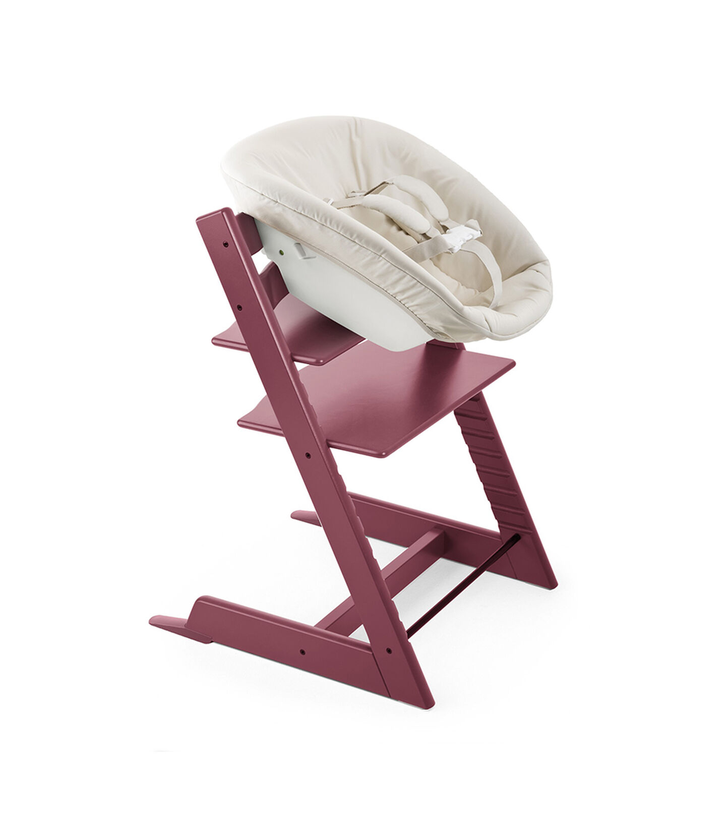 Tripp Trapp® Heather Pink and Tripp Trapp® Newborn Set.