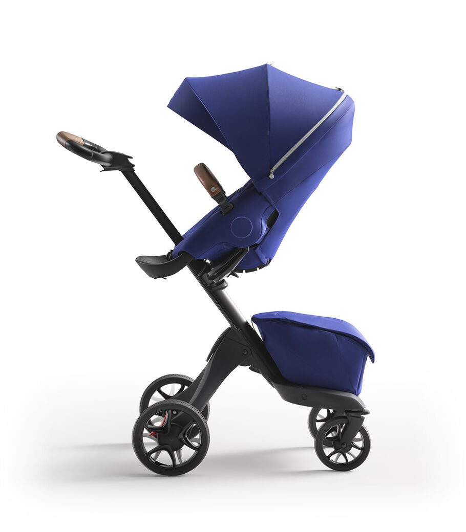 Stokke® Xplory® X Royal Blue Stroller with Seat Parent Facing view 4