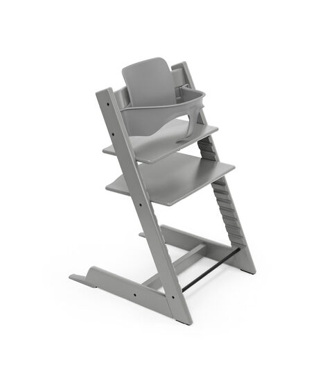 Tripp Trapp® chair Storm Grey, with Baby Set. view 8