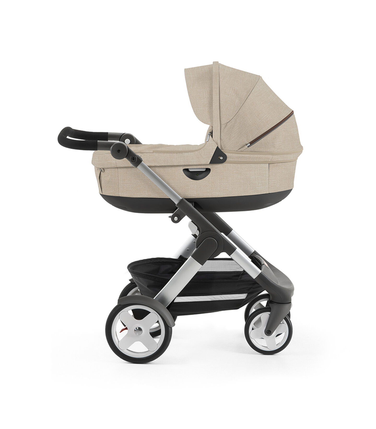 Stokke® Trailz™ with Stokke® Stroller Seat, Red. Classic Wheels. view 2