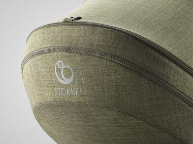 Stokke® Trailz™ Seat, Nordic Green. Detail.