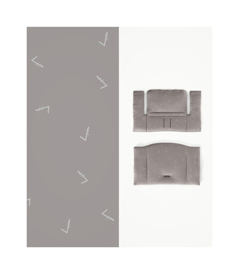 Tripp Trapp® HC Complete Natural w Icon Grey and Tray, Natural, Icon Grey Cushion + Tray, mainview view 3