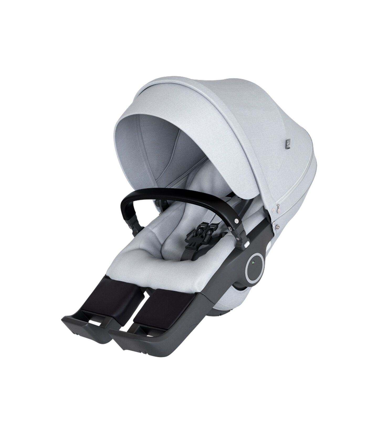 Stokke® Trailz™ Classic w Carry Cot Grey Mel, Grey Melange, mainview view 2