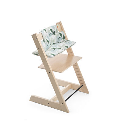 Tripp Trapp® Natural with CushionGreen Forest.
