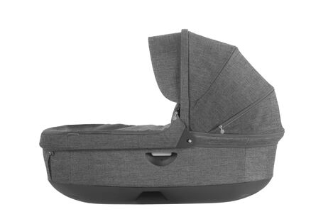Stokke® Stroller Carry Cot, Black Melange. For Stokke Crusi™ and Trailz™