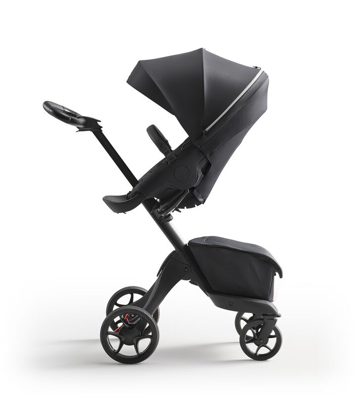 Stokke® Xplory® X Rich Black Stroller with Seat Parent Facing view 1